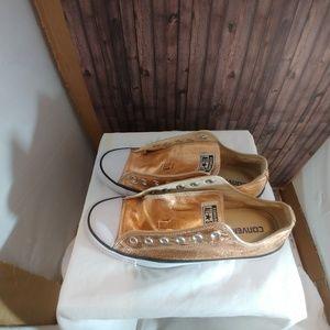 Converse golden sneakers